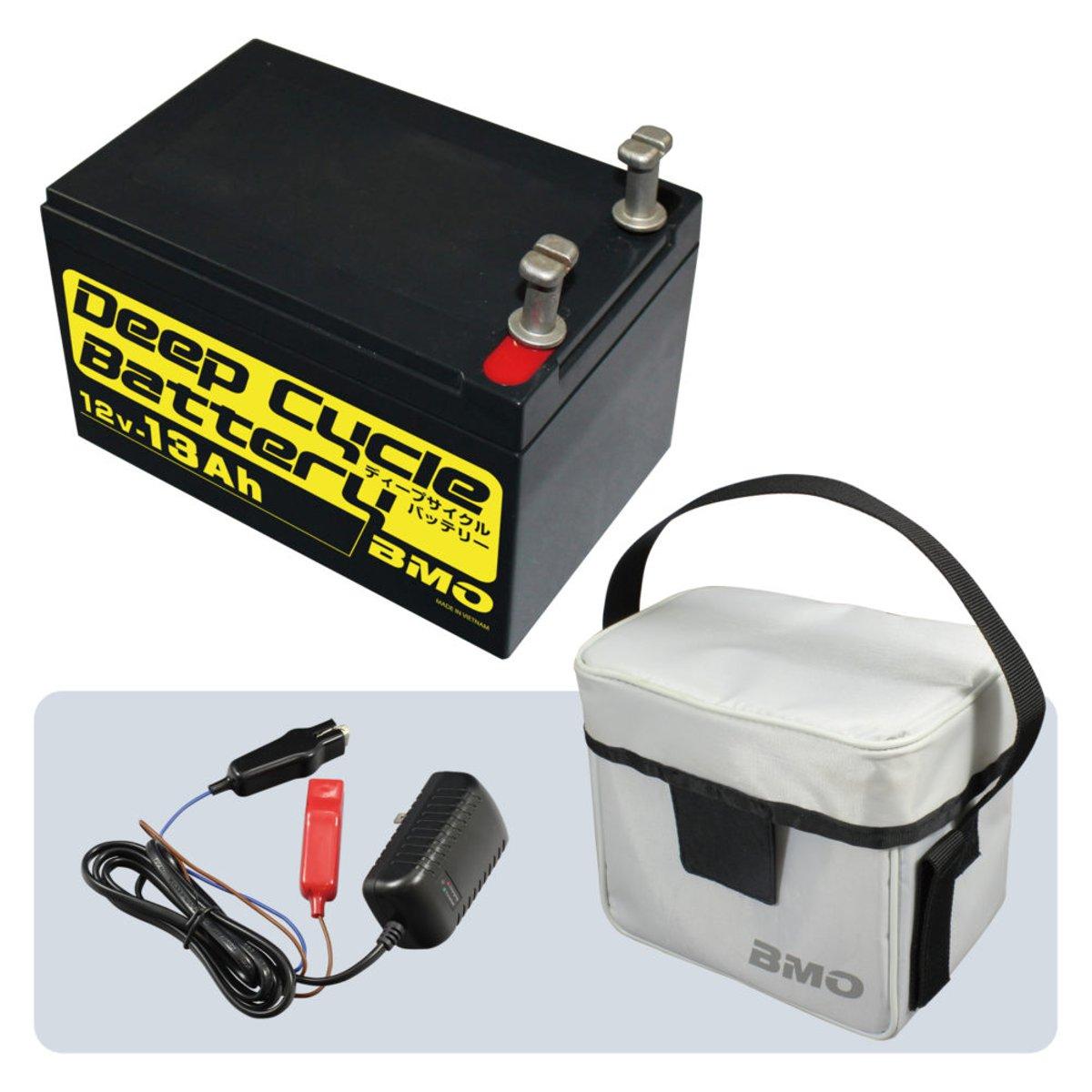 ディープサイクルバッテリー13Ah BM-D13-SET
