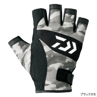 Daiwa (Daiwa) light camouflage glove five cut DG-8107 L black duck