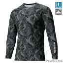 シマノ(SHIMANO) SUN PROTECTION ロングスリーブシャツ IN-061Q XL ブラックウェイブカモ