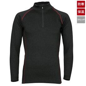 タカミヤ REAL METHOD シャギーボアハーフジップコンプレッションシャツ M ブラック