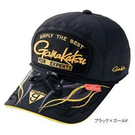 【12/5 最大P50倍!】ウィンドストッパーキャップ(ワッペン) GM-9841 LL ブラック×ゴールド