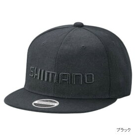 シマノ ベーシックフラットキャップ CA-066T フリー ブラック