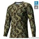 シマノ(SHIMANO) SUN PROTECTION ロングスリーブシャツ IN-061Q M カーキウェイブカモ