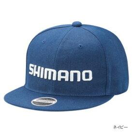 シマノ ベーシックフラットキャップ CA-066T フリー ネイビー
