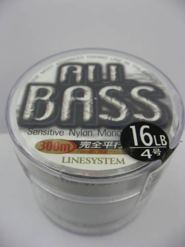 ラインシステム ALL BASS(オールバス) 4号 16LB 300m マットグレー