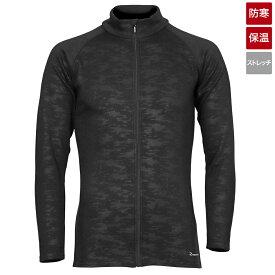 タカミヤ REAL METHOD シャギーボアフルジップコンプレッションシャツ L ブラックエンボスカモフラ