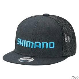 シマノ ベーシックハーフメッシュフラットキャップ CA-067T フリー ブラック