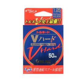 【11/25 最大P42倍!】サンライン トルネード Vハード 50m 1.25号 ナチュラルクリア【ゆうパケット】