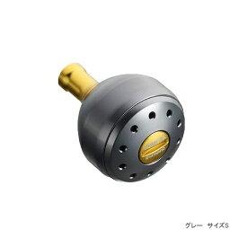 シマノ 夢屋 アルミラウンド型パワーハンドルノブ グレー M ノブ TypeB用