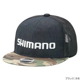 シマノ ベーシックハーフメッシュフラットキャップ CA-067T フリー ブラック/カモ