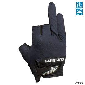 【8月25日エントリーで最大P36倍!】シマノ 3D・アドバンスグローブ3 GL-021S L ブラック【ゆうパケット】