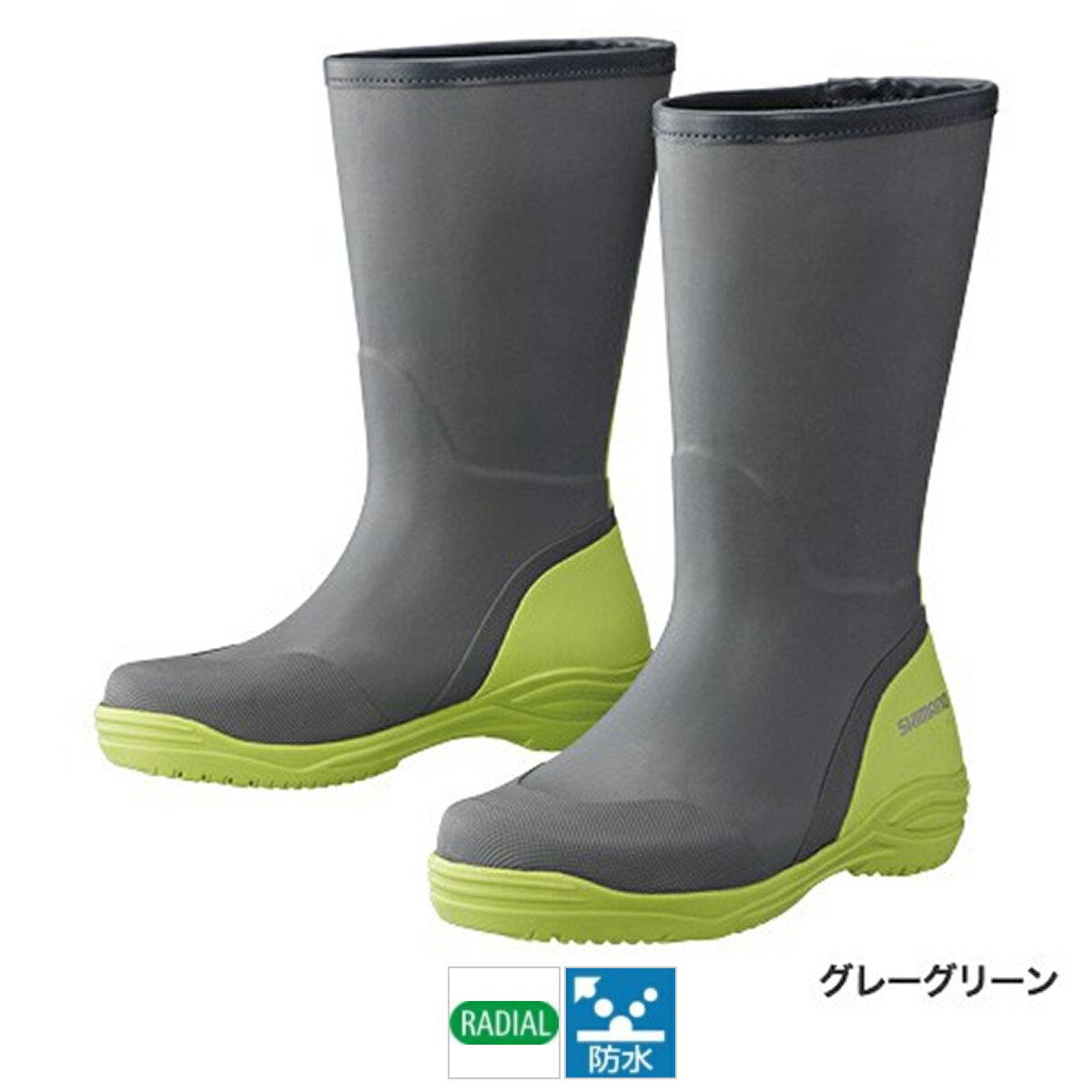 シマノ ラジアルブーツ FB-015P L グレーグリーン