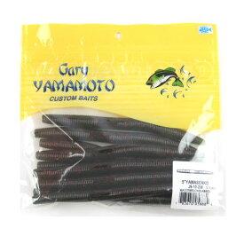 ゲーリーヤマモト 5インチ ヤマセンコー 208(ウォーターメロン/ブラック&スモールレッドフレーク)【ゆうパケット】