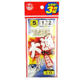 【6月25日は楽天カードがお得!エントリーで最大35倍!】タカミヤ 大漁サビキ JI−104 針5号−ハリス1号 白スキン【ゆうパケット】