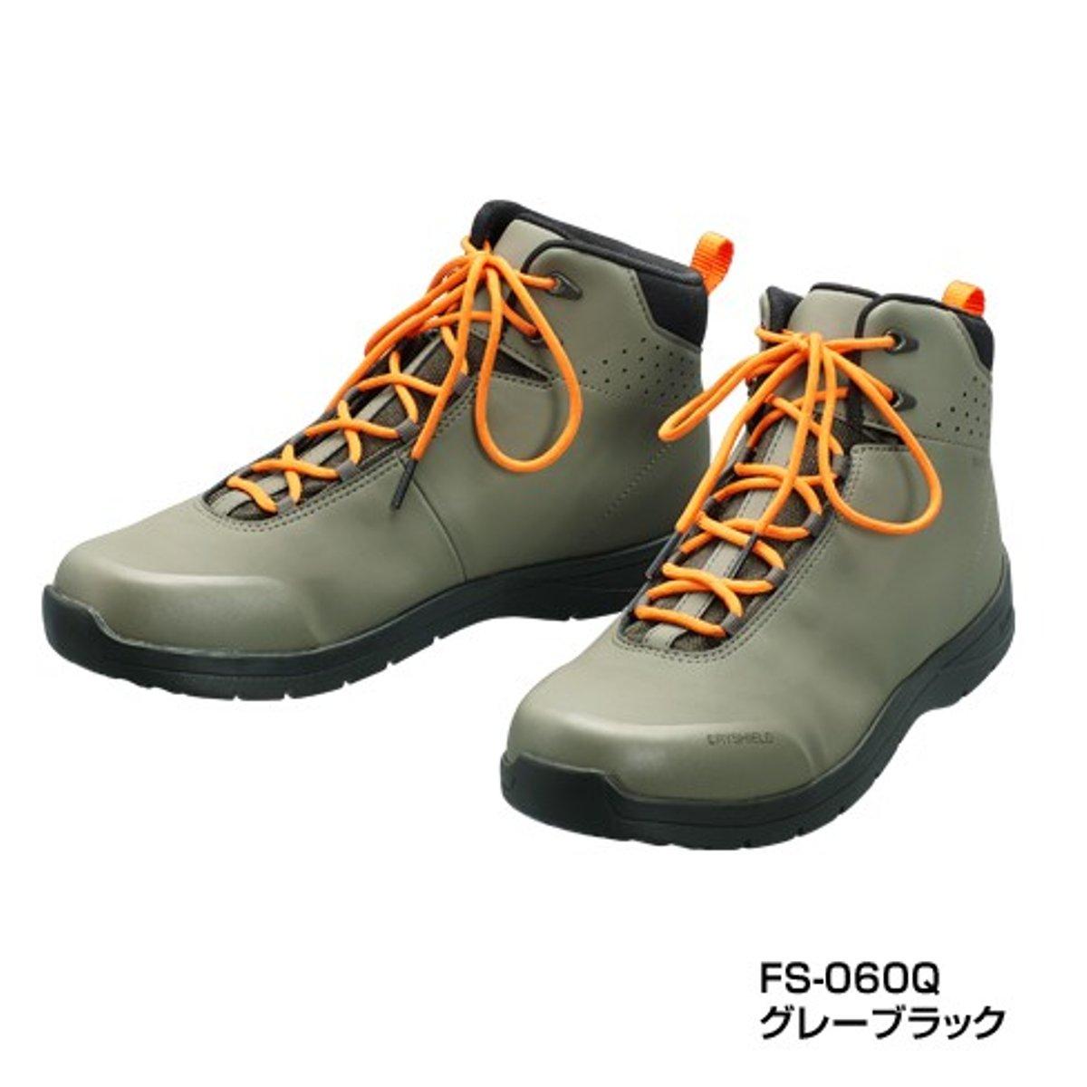 シマノ ドライシールド・ラジアルスパイクシューズ(ハイカットタイプ) FS-060Q 28.0cm グレーブラック