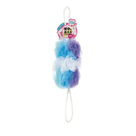 マーナ 背中も洗える シャボンボール ミックス ブルー B873B ボディスポンジ