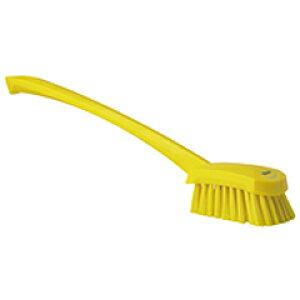 ヴァイカン 業務用 清掃用品 掃除道具 ロング ハンドル ブラシ ハード No.4186 イエロー