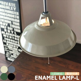 ENAMEL エナメル (L) 2灯 ホーロー仕上げ ペンダントライト ヴィンテージ風 ホーロー カフェ ダイニング 西海岸 照明 電球付き ARTWORKSTUDIO アートワークスタジオ SS-8005