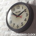 ENGINEERED エンジニアードクロック 掛け時計 ビンテージ調 アンティーク風 静か スイーブムーブメント ブルックリン 西海岸 ウォールクロック おしゃれ ARTWORKSTUDIO アートワークスタジオ TK-2072