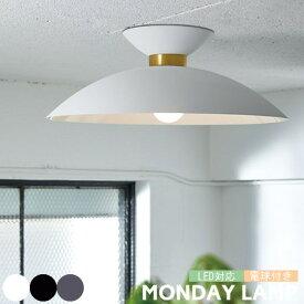 MONDAY マンデー シーリングライト LED 電球付き 照明 シンプル 1灯 大型 直付け照明 シーリングランプ リビング ダイニング 天井 おしゃれ ホワイト グレー ブラック AW-0538 ARTWORKSTUDIO アートワークスタジオ
