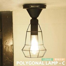 POLYGONAL ポリゴナル (C) 1灯 シーリングライト ランプ カウンター キッチン 玄関 カフェ 店舗 LED電球付き AW-0477 ARTWORKSTUDIO アートワークスタジオ