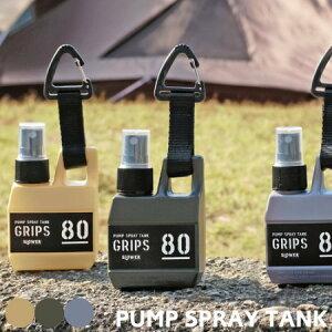 スプレーボトル 80ml GRIPS グリップス スロウワー スプレー SLOWER pump spray おしゃれ アルコール消毒液対応 容器 携帯用 除菌 スプレーボトル 霧吹き かっこいい