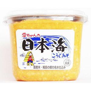 日本海味噌 カップ雪ちゃんのこうじみそ 1kg×6入