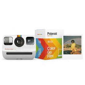 【早い者勝ち!最大2,000円OFFクーポン配布中!】Polaroid Go スターターセット ポラロイドゴーカメラ1台+ポラロイドゴーフィルム1本(8枚 x 2本パック)セット 【定価から10%off 18,000円→16,200円】 カメラとフィルムがセットになったお得なスターターセット ポラロイド