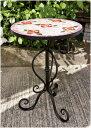 モザイク花台サイドテーブル