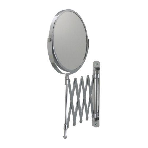 【IKEA Original】FRACK 伸縮 ウォールミラー ステンレススチール 片面/拡大鏡
