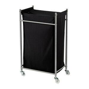 【IKEA Original】GRUNDTAL -グルンドタール- ランドリーバッグ キャスター付き ステンレススチール ブラック 隙間収納