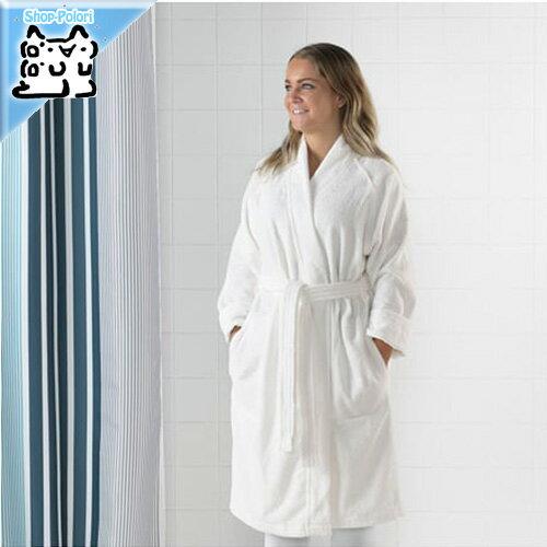 【IKEA Original】ROCKAN ロッコン バスローブ ホワイト S/Mサイズ 綿 100% ルームウェア