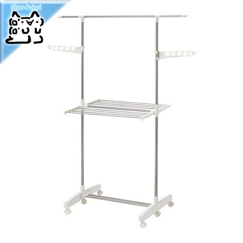 【IKEA Original】 PURKLA 折り畳み 物干しラック 2段