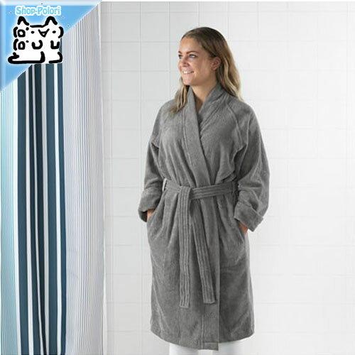 【IKEA Original】ROCKAN ロッコン バスローブ グレー L/XLサイズ 綿 100% ルームウェア