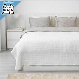 【IKEA Original】VARELD ベッドカバー ホワイト ダブルサイズ〜キングサイズ用 230x250 cm