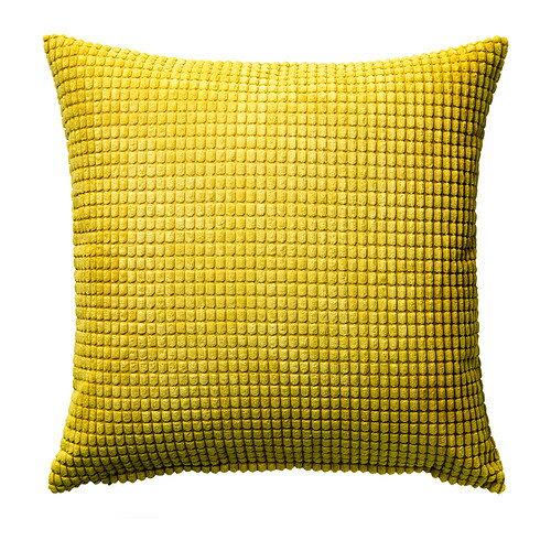 【IKEA Original】GULLKLOCKA クッションカバー イエロー 50x50 cm