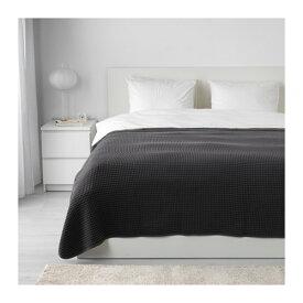 【IKEA Original】VARELD ベッドカバー ダークグレー ダブルサイズ〜キングサイズ用 230x250 cm