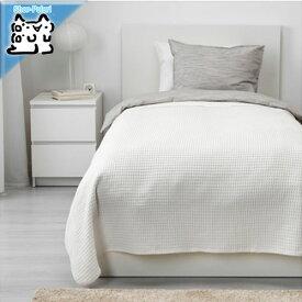 【IKEA Original】VARELD ベッドカバー ホワイト シングル〜セミダブルサイズ用 150x250 cm