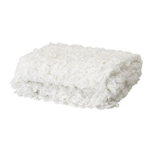 【IKEA Original】OFELIA 毛布 ホワイト 130x170 cm