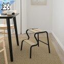 【IKEAOriginal】GRUBBAN-グルッバン-ステップスツールブラック/バーチ42.7cm