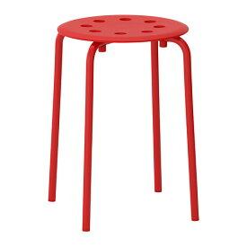 【IKEA イケア】ikea スツール MARIUS チェア レッド スチール