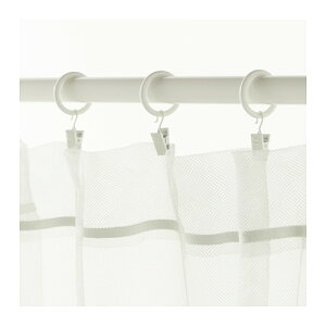 【IKEA Original】SYRLIG カーテンリング クリップ&フック付き ホワイト 10 ピースセット 25 mm