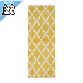 【IKEA Original】AUNING -アウニング- キッチンマット イエロー/ホワイト 45x180 cm
