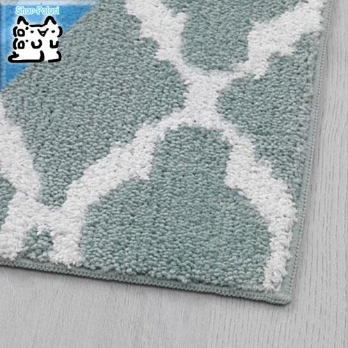 【IKEA Original】AUNING アウニング キッチンマット ライトグリーン/ホワイト 45x180 cm