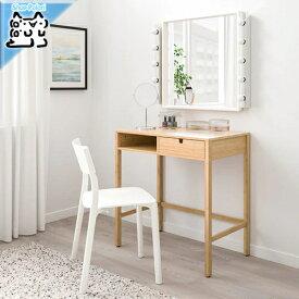 【IKEA Original】NORDKISA -ノールドシーサ- 机 デスク ドレッシングテーブル 竹 76x47 cm