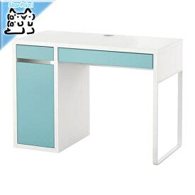 【IKEA Original】MICKE デスク ホワイト ライトターコイズ 105x50 cm