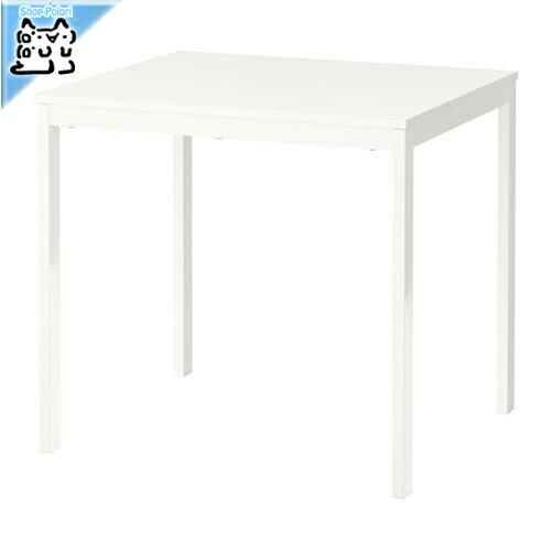【IKEA Original】ikea テーブル VANGSTA 伸長式テーブル ホワイト 80/120x70 cm 2〜4人用