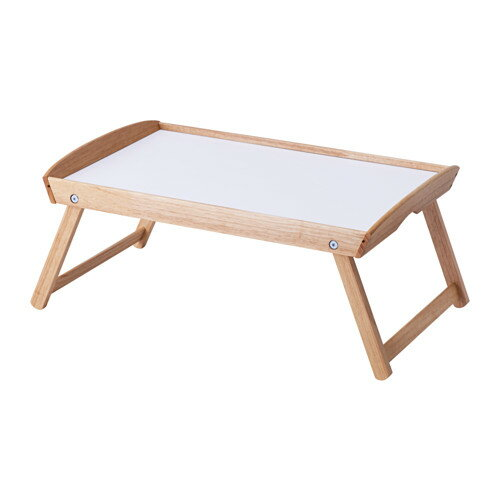 【IKEA Original】DJURA ベッドトレイ ゴムノキ 58x38x25 cm 簡易テーブル