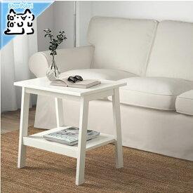 【IKEA Original】LUNNARP -ルンナルプ- ルンナルプ サイドテーブル ホワイト 55x45 cm