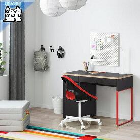【IKEA Original】MICKE -ミッケ- デスク チャコール/レッド 105x50 cm